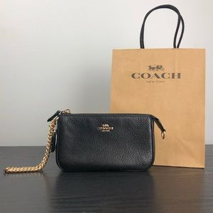 Coach wristlet bag black